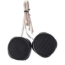 SODIAL(R) 2 x 97dB 500W Tweeter de cupula negro para el sistema de audio del coche