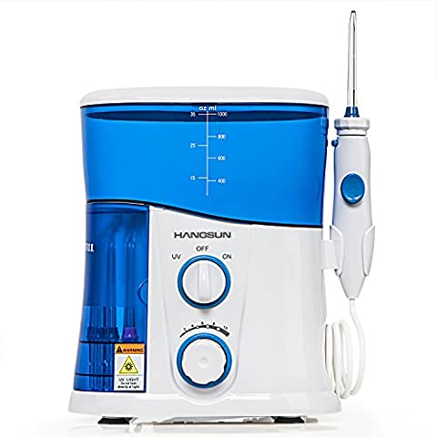 [With UV Sanitiser] Hangsun Water Flosser Dental Care Oral Irrigator HOC300 Family Water Jet with 7 Tips