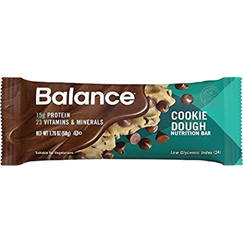 Balance Bar Cookie Dough, 1.76 ounce bars,