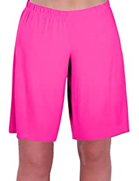 Star Ladies Jersey Relaxed Comfort Elasticized Flexi Stretch Womens Shorts Plus Sizes