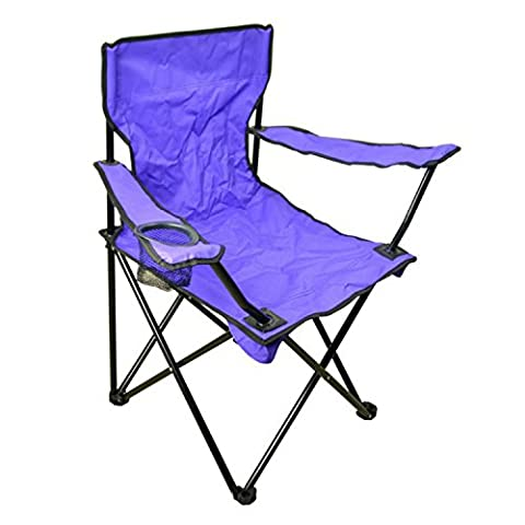 Campingstuhl Anglerstuhl Klappstuhl Faltstuhl 50x50x80cm Reisestuhl Stuhl LILA (Stühle Lila)