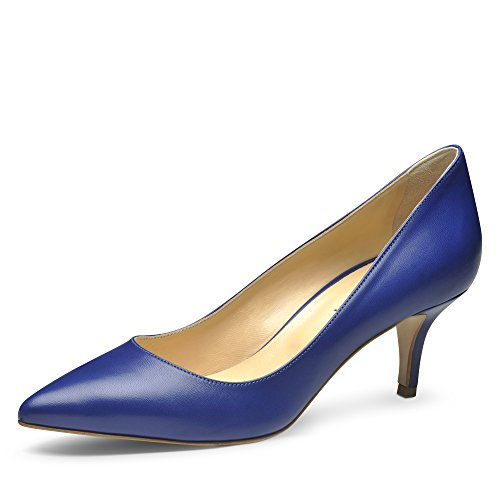 Evita Shoes Giulia Damen Pumps Glattleder Blau 34