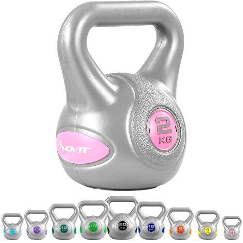MOVIT Kettlebell avec revêtement Plastique Anti-salissures, 9 Variantes: 2 kg à 20 kg, testé pour Les substances nocives, balancier haltère Balle haltère Balle Poids