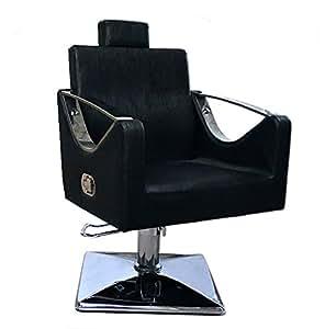 Miss Lilac 9850 Fauteuil de salon de coiffure/barbier Noir