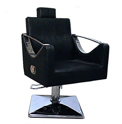 Miss lilac 9850- poltrona per salone parrucchiere / barbiere, colore: nero