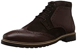 Bata Mens Dan Tan Leather Boots - 9 UK/India (43 EU) (8044190)
