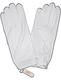 White Masonic Gloves for Men, 100% Cotton, Handwash only