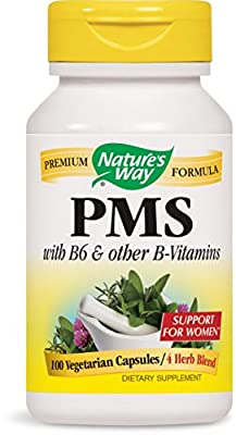 PMS, With Vitamin B6 & 5-HTP, 418 mg, 100 Capsules - Nature's Way by Nature's Way