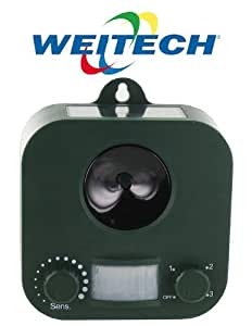 Weitech r pulsif solaire ultrason anti chien chat fouine for Anti chat jardin