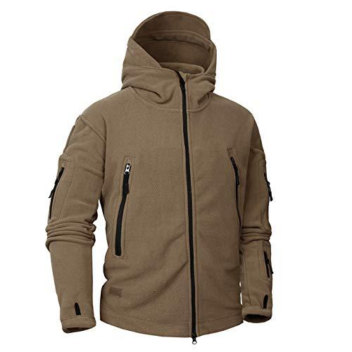 Tarnung Shjzom Herbst Winter Military Fleece Camouflage Tactical Herrenbekleidung Polar Warm Army Men Coat Outwear Hoodie Brown M Wool Field Coat