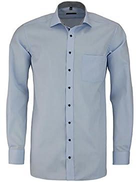 ETERNA Modern Fit Hemd extra langer Arm Patch Oxford hellblau AL 68