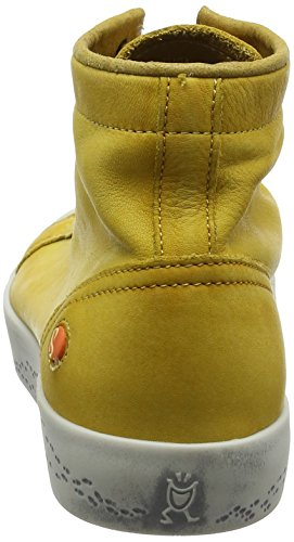 Softinos Damen Kip448sof Washed Hohe Sneaker Gelb (Yellow)