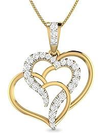 PC Jeweller The Phila 18KT Yellow Gold & Diamond Pendant