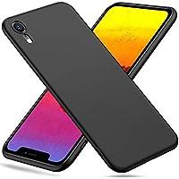 Peakally Cover per iPhone XR in TPU Nero Opaco, Morbido TPU Custodia Cover Slim Anti Scivolo Custodia Protezione Posteriore Cover Antiurto per iPhone XR-Nero