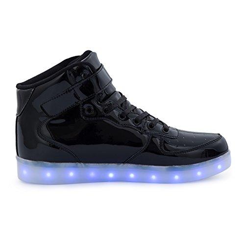 f0b28a99f1d45a FLARUT 7 Farbe USB Aufladen LED Leuchtend Leuchtschuhe Blinkschuhe Sport  Schuhe für Jungen Mädchen Kinder Schwarz ...