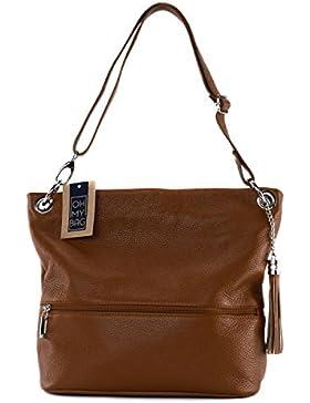 OH MY BAG - Leder Damen Handtasche - Tragbar als HANDTASCHE UND SCHULTER – Modell KORS - Genarbtes Leder
