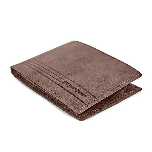 293502e7f1 Genuine Leather Wallet for Man - Coin Pocket with Button Closure - Gents  Trifold Wallet with