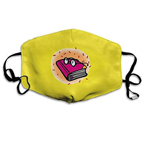 Fashion Outdoor Reusable Mouth Mask, Face Masks with Design, Dust Mask Cartoon Red Book and Sunglasses Outdoor Mouth Mask Anti Dust Mouth Mask for Man Woman
