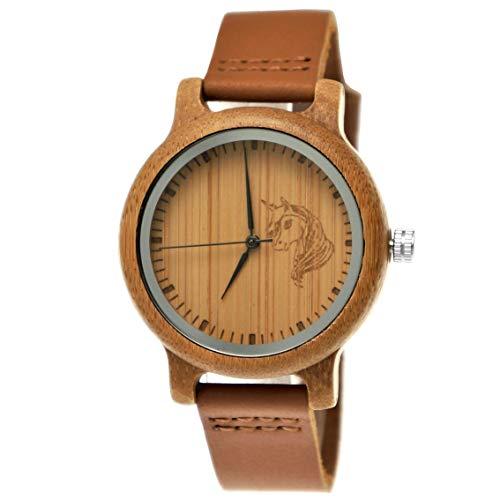 Handgefertigte Holzwerk Germany Einhorn Uhr