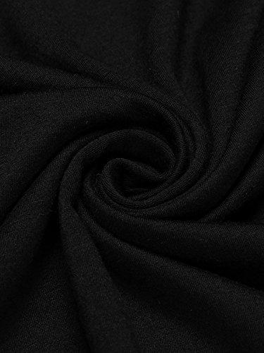 Beyove Damen Herbst Frühling Freizeitkleid Jerseykleid Langarm Etuikleid Casual Bleistiftkleid mit Tunnelzug in der Taille (A)Schwarz