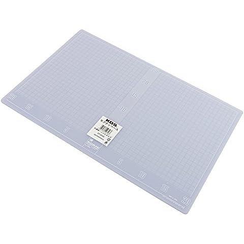 KDS ST-2000 - Base de corte con plantilla (Tabla para medir y cortar) - 450 x 300 x 3 mm - [ Tipo: Suave ] - Color: Transparente (Cutting Board)