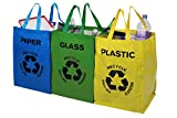 Premier Housewares Recycle Bags - Set of 3, Multi-Coloured