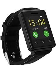 Pulsera Inteligente Deportes Con Monitor De Ritmo Cardíaco Reloj Inteligente De Hombre / Reloj Inteligente Deportivo InfantilPulsera Inteligente Despertador, MUJG7 & Reproducción De Vídeo MP4 Cámara Remota Bluetooth - Negro