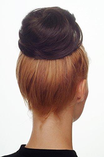 WIG ME UP - Haarteil Dutt Haarknoten Bun 60er Jahre Vintage Look sehr groß Braun Dunkelbraun NHA-004C-8