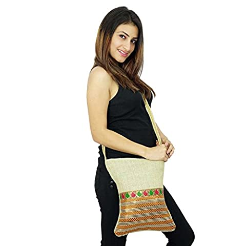 Designer Handmade Side Messenger Jute Tote Sac à bandoulière Courier sacoche Fashion Gift For Her