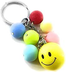 Kolossalz Multicolor Smiley Keychain For Bike Car Men Boys Girls