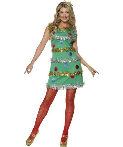 Imagen de smiffy's  disfraz de árbol de navidad para mujer, talla l 36992l kit  alternativa