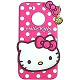 EDGEKART Hello Kitty Soft Back Cover For Motorola Moto G5 Plus - Pink