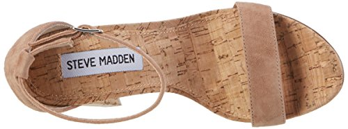 Steve Madden Carson-c Sandal, Escarpins Bout Ouvert Femme Marron (Camel)