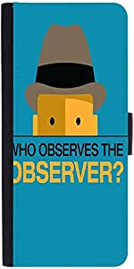 Snoogg Who Observes The Observer 2843 Graphic Snap On Hard Back Leather + Pc ...