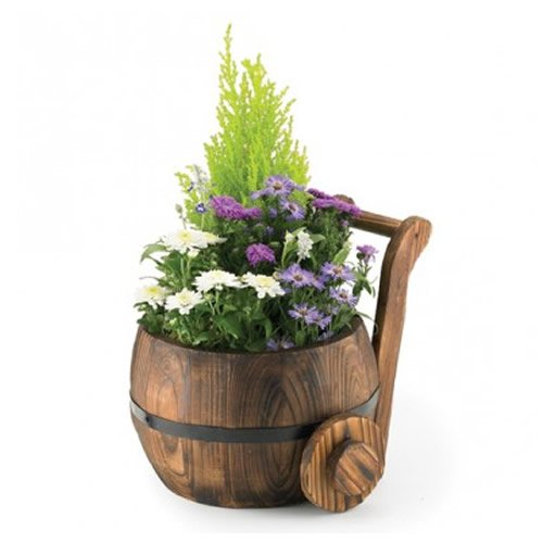 ornamental-burntwood-butter-churn-plant-pot-flower-planter-tub-ch418