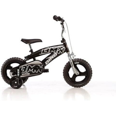 DINO BMX Bikes 125XC 12 pulgadas, Bicicleta de niño, Kidsbike , bicicleta, bicicleta del niño , la bici, velocípedo, bicicleta , ciclismo negro, estabilizadores, • 12 pulgadas 2-5 años 85-110 cm 42-52cm elevación del