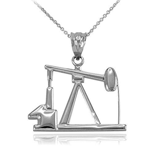 Damen Anhänger Halskette 925 Sterling Silber Ölpumpe (Kommt mit einem 45cm Kette)