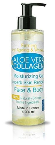 Kollagengel 200 ml Feuchtigkeitsgel Gesicht und Körper Anti-Falten Straffende Haut Anti Age