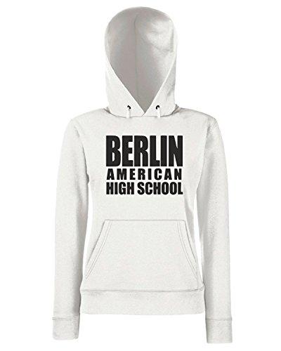 T-Shirtshock - Sweats a capuche Femme OLDENG00021 berlin american high school Blanc