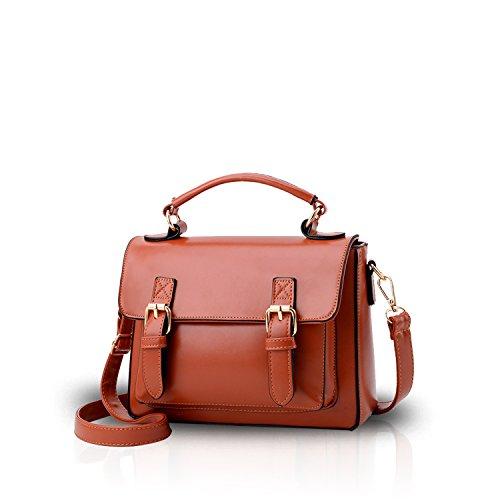 NICOLE&DORIS Damen Handtaschen Umhängetasche Damenhandtaschen Henkeltaschen Schultertaschen Klein Crossbody PU Schwarz Braun