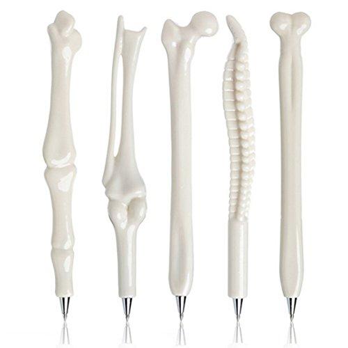 Allbusky Neuheit Knochen Form Kugelschreiber 0.7mm Schwarz Tinte für Ärzte Krankenschwestern Medics Geschenk Schule Büro Schreibwaren Set von 5
