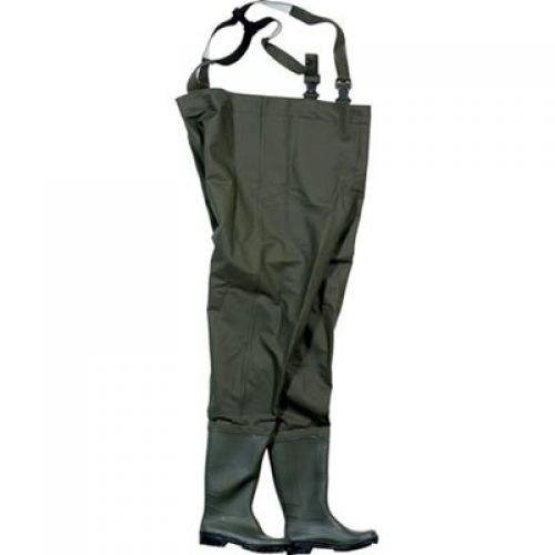 Ocean® Junior Wathose, 500g PVC, Farbe:dunkeloliv; Größe:40
