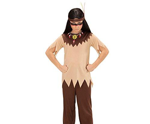 Widmann 07215 Kinderkostüm Indianer, 116 (Brown-streifen-hose)