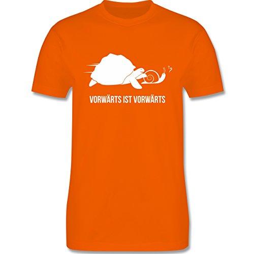 Laufsport - Vorwärts ist vorwärts - Herren Premium T-Shirt Orange