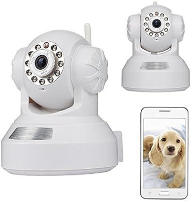 NEXGADGET IP Cámara 720P Inalámbrica WiFi de Vigilancia Seguridad Interior Detección Movimiento Visión Nocturna Bebé Mascotas Monitor Remota Alarma P2P Pan Tilt Compatible con iOS y Android