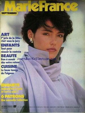 MARIE FRANCE [No 319] du 01/09/1982 - ART - ENFANTS - LA RENTREE - BEAUTE - CUISINE - L'OIGNON - PATRONS.