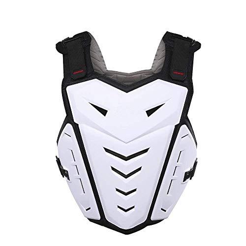 ZzheHou Motorrad-Schutzjacke Anti-Fall-Weste Sportjacke Motorradrennsport Körperschutzpanzerung Schutzhülle for Ski-Furnier Motorrad-Schutzkleidung (Color : White)