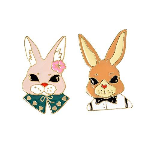 Kostüm Muster Kaninchen - CLY brooch Brosche Cartoon Niedlichen Kaninchen Mit Kostüm Brosche
