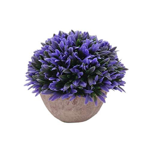 Westeng - piante artificiali, in plastica, con vaso, per la decorazione della casa, porpora
