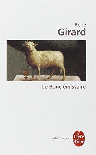 Le Bouc émissaire par René Girard